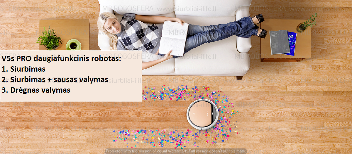 Dulkių siurblys robotas ILIFE V5s PRO